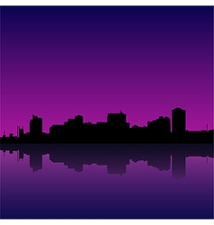 manila bay skyline manila cityscape vector image