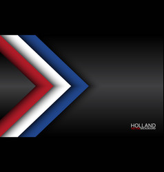 Modern overlayed arrows with dutch colors vector