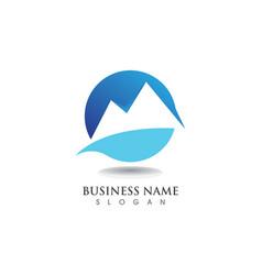 mountain logo and symbols vector image