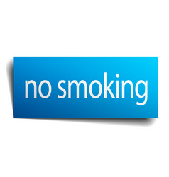No smoking blue paper sign on white background vector