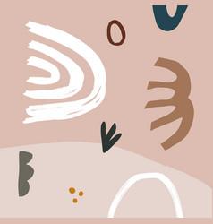 pastel terracotta art print abstract modern vector image
