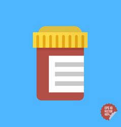 pill bottle medicine bottle vector image
