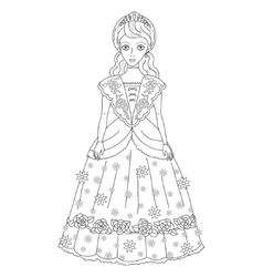 princess in ancient dress vector image
