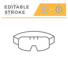 Protective goggles line icon vector