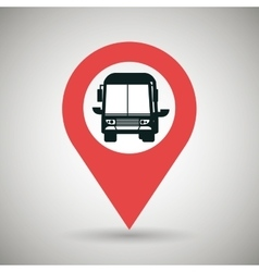 red signal of black bus isolated icon design vector image