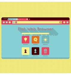 retro vintage web browser interface vector image