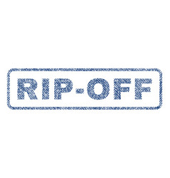 rip-off textile stamp vector image