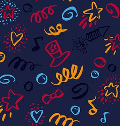 seamless pattern on 4 july vector image