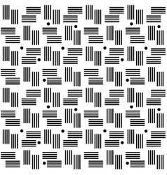 seamless stripes and dots monochromatic pattern vector image