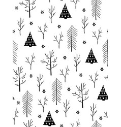 Seamless winter pattern from doodle hand vector