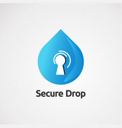Secure drop with modern concept icon element and vector