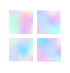 set 4 pastel colors gradient background designs vector image