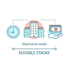 Short-term rental concept icon vector