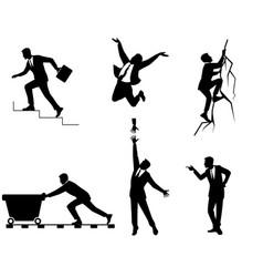 six businessmen in action vector image