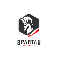 spartan logo design spartan helmet logo template vector image