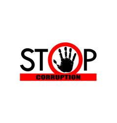 Stop corruption 3 vector