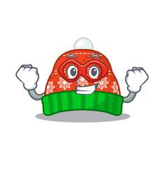 Super hero winter hat in mascot shape vector