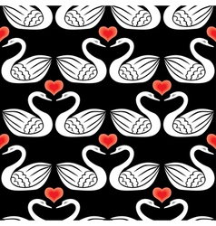 Swan pattern black vector