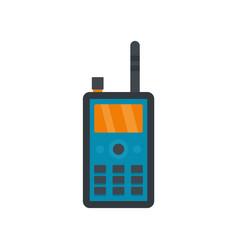 talkie radio icon flat style vector image