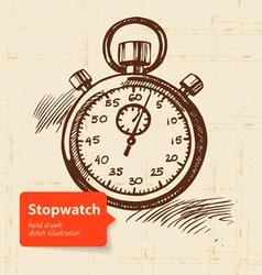 Vintage stopwatch vector