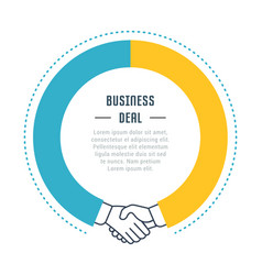 Website banner and landing page business deal vector