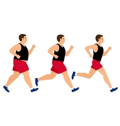 Weight loss running man vector