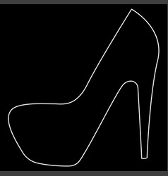 Woman shoes the white path icon vector