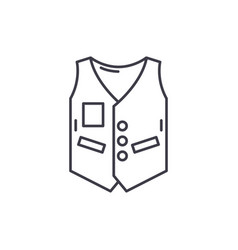 work vest line icon concept work vest vector image