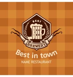 banner with beer label vector image