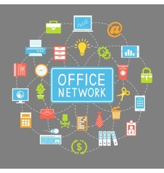 Business office networking and communication vector