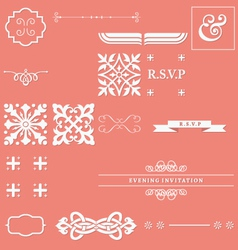 Calligraphy elements vector image vector image