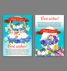 easter greeting card and poster template design vector image vector image