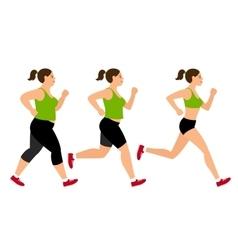Jogging weight loss woman vector image vector image
