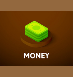 money isometric icon isolated on color background vector image