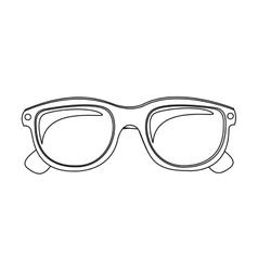 monochrome silhouette oval glasses lens vector image