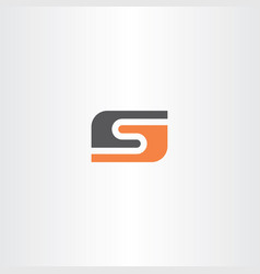 orange black letter s logo icon logotype vector image vector image
