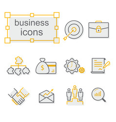 thin line icons set business vector image