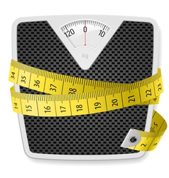 Weights tape measure vector image vector image