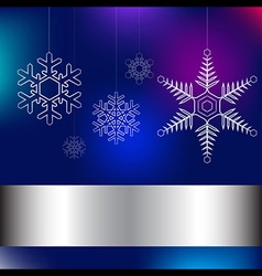 Christmas card blue vector image vector image