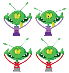 crazy alien set vector image