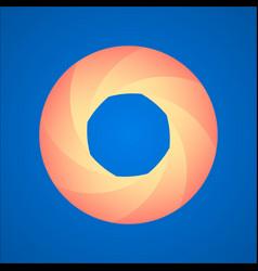 diaphragm logo image vector image
