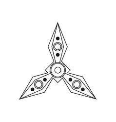 Spinner for hand stress relief fidget toy icon vector