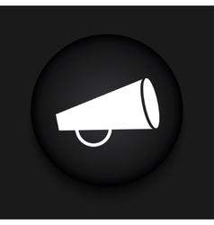 modern loudspeaker black circle icon vector image vector image