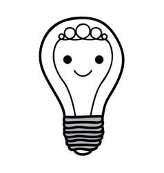 monochrome background of light bulb with filament vector image