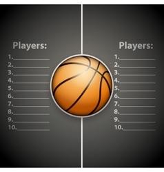 Poster Template of Basketball Ball vector image