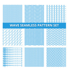 seamless patterns set with scribbles lines and vector image