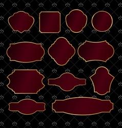 Set of vintage golden frames vector image vector image