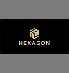 aa hexagon logo design inspiration vector image