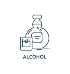 alcohol line icon alcohol outline sign vector image
