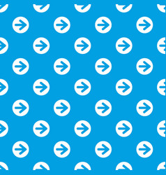 arrow in circle pattern seamless blue vector image